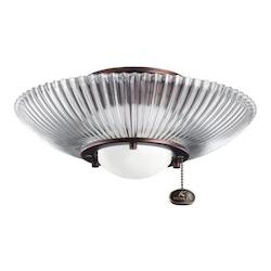 Kichler One Light Oil Brushed Bronze Fan Light Kit - 380112OBB