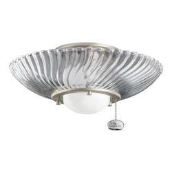 Kichler One Light Brushed Nickel Fan Light Kit - 380113NI
