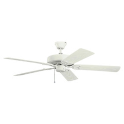 Satin Natural White Ceiling Fan