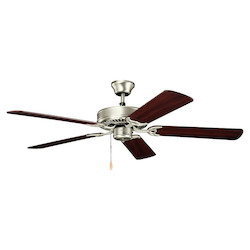 Brushed Nickel 52In. Indoor Ceiling Fan With 5 Blades - Includes 4In. Downrod