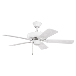 Kichler Satin Natural White Ceiling Fan - 414SNW