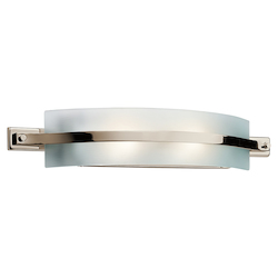 Polished Nickel Freeport 28in. Wide 2-Bulb Bathroom Lighting Fixture