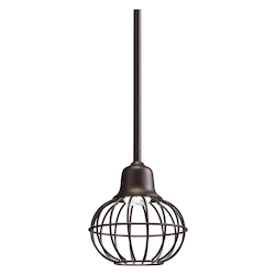 Kichler 42359OZ Olde Bronze 8-Bulb Indoor Pendant with Globe-Shaped Metal Shade - 107993