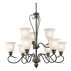 Kichler Nine Light Olde Bronze Up Chandelier - 42907OZ