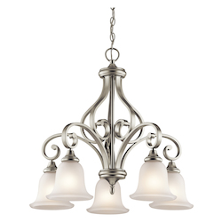 Brushed Nickel Monroe Chandelier with 5 Lights - 27in. Wide