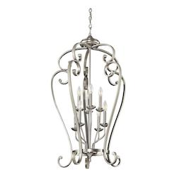 Brushed Nickel Monroe Foyer Chandelier with 8 Lights - 23in. Wide