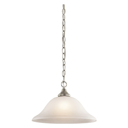 Kichler One Light Brushed Nickel Down Pendant - 43172NI
