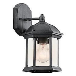 Black (painted) Barrie Collection 1 Light 11in. Outdoor Wall Light