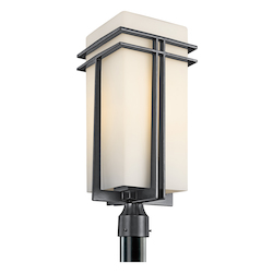 Kichler One Light Black (painted) Post Light - 49204BK