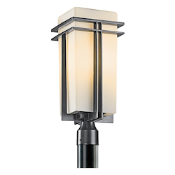 Black (painted) Traditional 1 Light Fluorescent Up Light Fluorescent Outdoor Post Light Fluorescent from the Tremillo Collection
