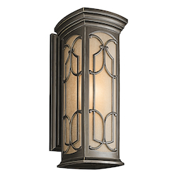 Olde Bronze Franceasi Collection 1 Light 22in. Outdoor Wall Light