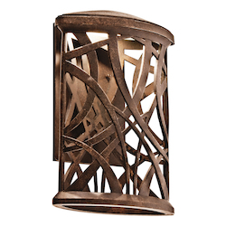 Aged Bronze Maya Palm 11in. Energy Efficient LED Outdoor Wall Light
