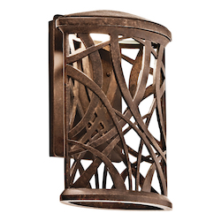 Aged Bronze Maya Palm 13in. Energy Efficient LED Outdoor Wall Light