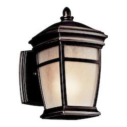 Kichler One Light Rubbed Bronze Wall Lantern - 49270RZFL