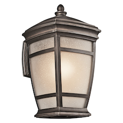 Rubbed Bronze McAdams Collection 1 Light 18in. Outdoor Wall Light