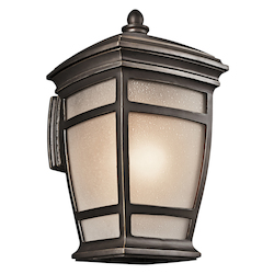 Rubbed Bronze McAdams Collection 1 Light 21in. Outdoor Wall Light