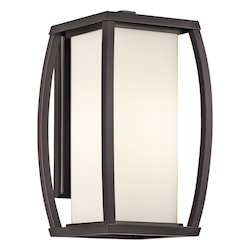 Architectural Bronze Bowen Collection 1 Light 16in. Outdoor Wall Light