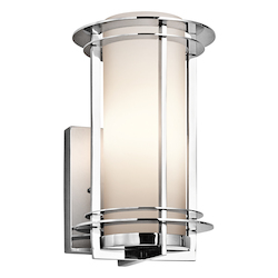 Polished Stainless Steel Lifetime Finish Pacific Edge 1 Light 11in. Outdoor Wall Light