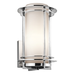 Polished Stainless Steel Lifetime Finish Pacific Edge 1 Light 13in. Outdoor Wall Light