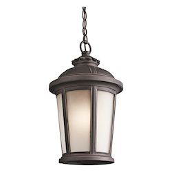 Rubbed Bronze 1 Light Outdoor Pendant from the Ralston Collection
