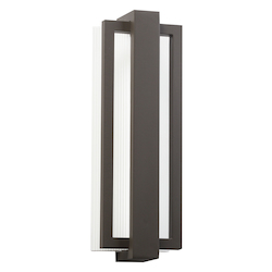 Architectural Bronze Sedo 18in. Energy Efficient LED Outdoor Wall Light