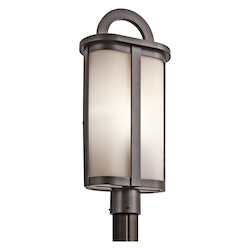Kichler One Light Architectural Bronze Post Light - 49471AZ