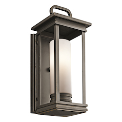 Rubbed Bronze South Hope Collection 1 Light 18in. Outdoor Wall Light