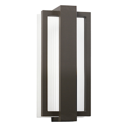 Architectural Bronze Sedo 12in. Energy Efficient LED Outdoor Wall Light