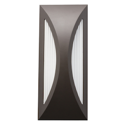 Architectural Bronze Cesya 12in. Energy Efficient LED Outdoor Wall Light