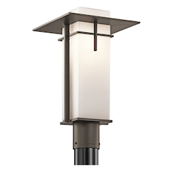 Olde Bronze 1 Light Outdoor Post Light from the Caterham Collection