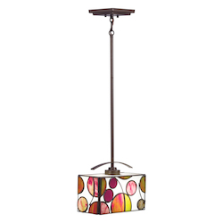 Kichler One Light Mission Bronze Down Mini Pendant - 65424
