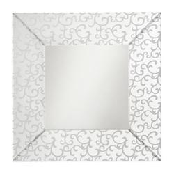 Clear Scroll Square Mirror - 36in. x 36in.