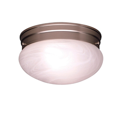 Brushed Nickel Ceiling Space 2 Light Flush Mount Indoor Ceiling Fixture