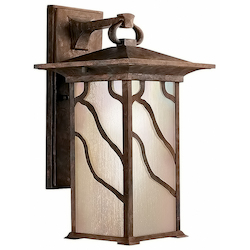 Kichler One Light Distressed Copper Wall Lantern - 9031DCO