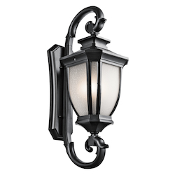 Black Salisbury Collection 4 Light 42in. Outdoor Wall Light