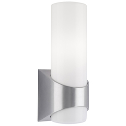 Kichler One Light Brushed Aluminum Outdoor Wall Light - 9109BA