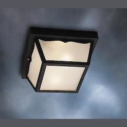 Black Wrought Iron 1 Light Outdoor Ceiling Fixture
