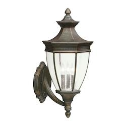 Tannery Bronze Warrington Collection 3 Light 24in. Outdoor Wall Light