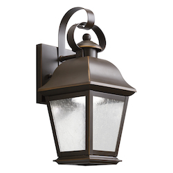 Olde Bronze Mount Vernon 13in. Energy Efficient LED Outdoor Wall Light