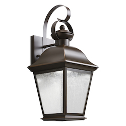 Olde Bronze Mount Vernon 17in. Energy Efficient LED Outdoor Wall Light