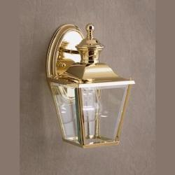 Polished Brass Lifetime Finish Bay Shore 1 Light 10in. Outdoor Wall Light