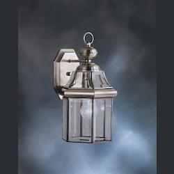 Antique Pewter Embassy Row Collection 1 Light 15in. Outdoor Wall Light