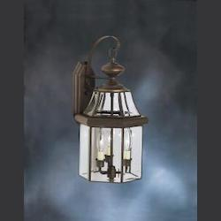 Olde Bronze Embassy Row Collection 3 Light 21in. Outdoor Wall Light