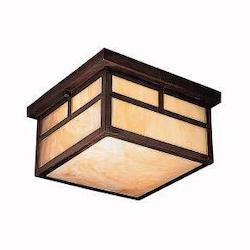 Canyon View 2 Light Outdoor Ceiling Fixture from the La Mesa Collection