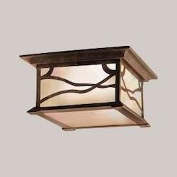 Distressed Copper 2 Light Outdoor Ceiling Fixture from the Morris Collection