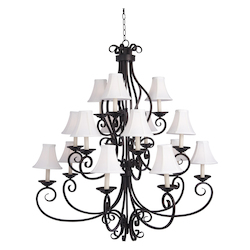 Fifteen Light Oil Rubbed Bronze Up Chandelier