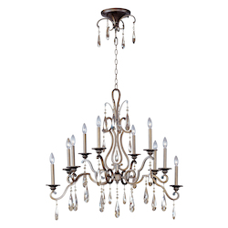 Ten Light Heritage Up Chandelier