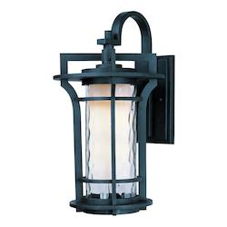 Maxim One Light Water Glass Glass Black Oxide Wall Lantern - 30485WGBO
