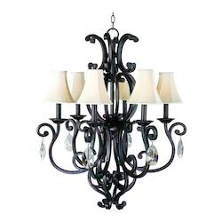 Maxim Six Light Colonial Umber Up Chandelier - 31005CU/CRY083