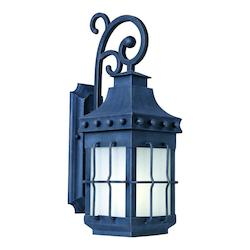 Maxim One Light Country Forge Frosted Seedy Glass Wall Lantern - 86084FSCF